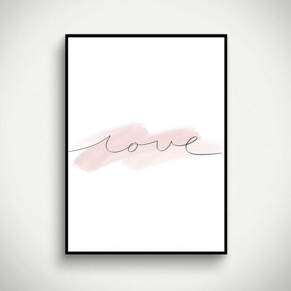 "Digital Print ""Love"""